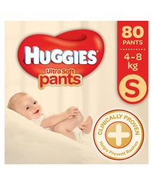 Huggies Ultra Soft Small Size Diaper Pants - 80 Pieces