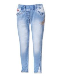 Tales & Stories Straight Fit Jeggings - Light Blue