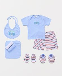 Mee Mee Clothing Gift Set Baby Boy Print Pack of 8 - Blue
