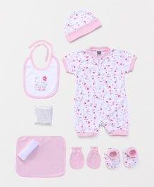 Mee Mee Clothing Gift Kitty Print Pack Of 8 - Pink