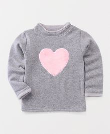 Yiyi Garden Heart Design T-Shirt - Grey
