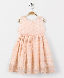 Yiyi Garden Sleeveless Frock - Peach