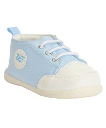 Kiwi Lace Up Sneakers Baby Patch - Light Blue