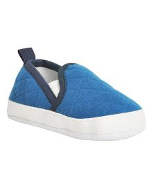 Kiwi Quilted Slip-On Booties - Blue