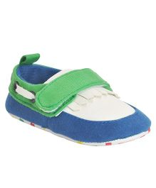 Kiwi Slip-on Booties Velcro Closure - Green & Blue