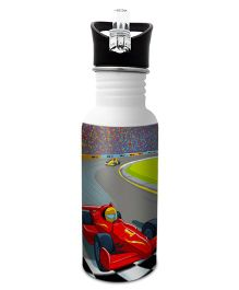 Hot Muggs Stainless Steel Water Bottle Wanna Be A Racer Print Multi Colour - 600 ml