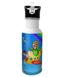 Hot Muggs Stainless Steel Water Bottle Want To Be A Pilot Print Multi Colour - 600 ml