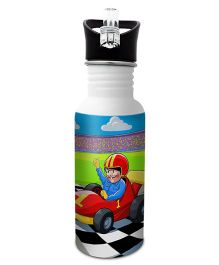 Hot Muggs Stainless Steel Water Bottle Want To Be A Racer Print Multi Colour - 600 ml