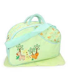 Mee Mee Nursery Bag Animal Embroidery - Green