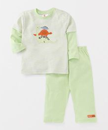 Pretty Kibo Dinosaur Print Set - Green