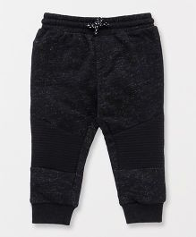 Fox Baby Full Length Track Pant With Drawstring - Black