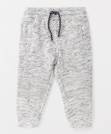 Fox Baby Full Length Lounge Pant With Drawstring - Light Grey White