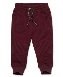 Fox Baby Full Length Track Pant With Drawstring - Maroon