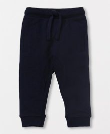 Fox Baby Full Length Lounge Pants With Drawstring - Navy Blue