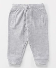 Fox Baby Full Length Lounge Pants With Drawstring - Light Grey