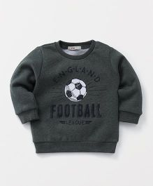 Fox Baby Full Sleeves Sweatshirt Football Print - Green