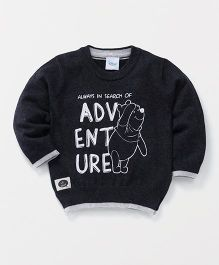 Fox Baby Full Sleeves Sweatshirt Adventure Print - Black