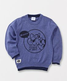 Fox Baby Full Sleeves Sweatshirt Tigger Print - Blue
