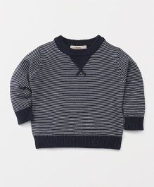 Fox Baby Full Sleeves Sweatshirt Stripe Design - Navy Blue