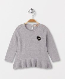 Fox Baby Full Sleeves Sweater - Grey