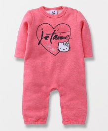 Fox Baby Full Sleeves Romper Hello Kitty Print - Pink