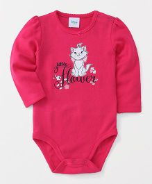 Fox Baby Full Sleeves Onesie Kitty Print - Fuchsia