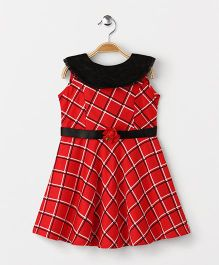 Enfance Core Printed Casual Dress - Red