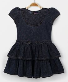 Enfance Core Simple Cap Sleeves Dress - Black