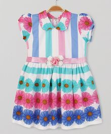 Enfance Core Smart Peter Pan Collar Dress - Multicolor