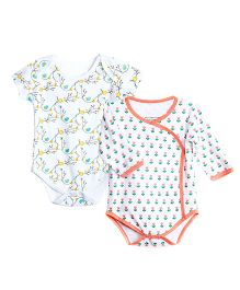 Chic Bambino Sun And Flower Print Onesies - Multicolour