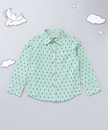 Hugsntugs Honey Bee Print Shirt - Green