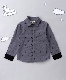 Hugsntugs Penguin Print Shirt - Grey