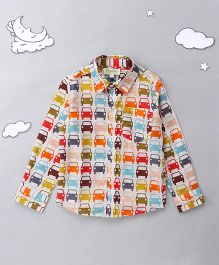 Hugsntugs Car Print Shirt - Multicolor