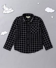 Hugsntugs Check Print Shirt - Black