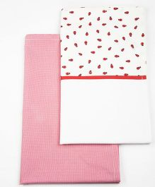 HouseThis The Bug Buddy Pure Cotton Set of 2 Bed Sheets - Pink