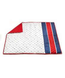 HouseThis The Junior Pirates Pure Cotton Quilt - White & Red