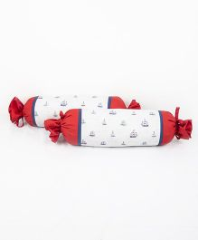 HouseThis The Junior Pirates Pure Cotton Set of 2 Bolsters - Blue & Red