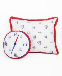 HouseThis The Junior Pirates Pure Cotton Pillow & Cushion - Blue & Red
