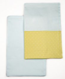 HouseThis The Perfect Morning Pure Cotton Set of 2 Bed Sheet - Turquoise