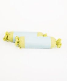 HouseThis The Perfect Morning Pure Cotton Set of 2 Bolsters - Turquoise
