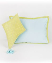 HouseThis The Perfect Morning Pure Cotton Pillow & Cushion - Turquoise & Green