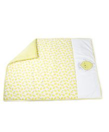 HouseThis The Sweet Lemon Pure Cotton Quilt - Yellow