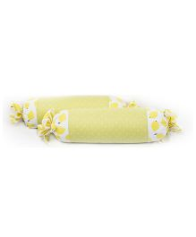HouseThis The Sweet Lemon Pure Cotton Set of 2 Bolsters - Yellow