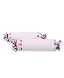 HouseThis The Sweet Summer Pure Cotton Set of 2 Bolsters - Pink