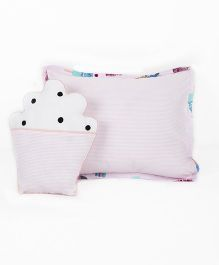 HouseThis The Sweet Summer Pure Cotton Pillow & Cushion - Pink