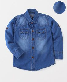 Jash Kids Full Sleeves Denim Shirt - Light Blue
