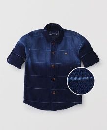 Jash Kids Full Sleeves Striped Shirt - Dark Blue