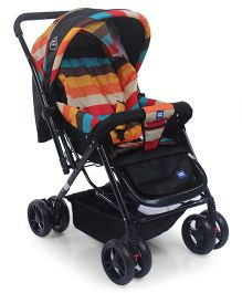 Mee Mee Pram With Soft Cushioned Seat Full Leg Cover & Canopy - Black