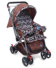 Mee Mee Pram With Reversible Handle - Brown