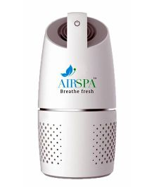 Airspa Car Air Purifier With Hepa & Ioniser - White